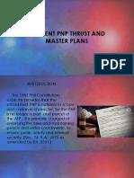 Current PNP Thrust & Master Plans 2019
