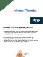 Motivational Theories