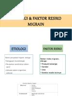 Etiologi & Faktor Resiko Migrain