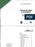 Tecnicas de analisis de investigacion