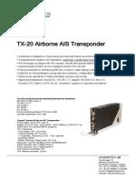 TX 20 Datasheet