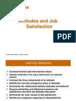 Chapt -3 - Attitudes & Job Satisfaction