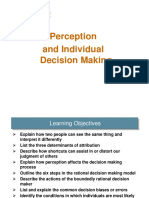 Chapter 5 - Perception and Individual Decision Making