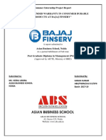 Bajaj Finserv - The ROLE of EXTENDED WARRANTY in Consumer Durables Products at Bajaj Finserv