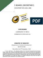 Coir Board (Secretary) Recruitment Rules, 1988