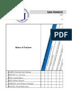 Progress Sheet Sample