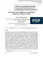A Study of the Effect of Technology Marketing Strategies on Innovative Performance From the Standpoint of the Organizational Project Management1