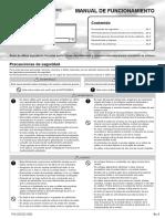 Manual de Uso y Funcionamiento Del Aire Acondicionado Fujitsu Asy 35Ui LLCC