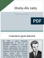 Constitutia Din 1965