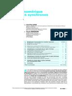 Commande Numérique Des Machines Synchrones