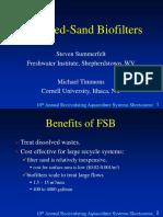 Optimized Fluidized Sand Biofilters