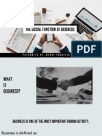 The Social Function of Business