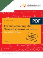 Formelsammlung Der Wirtschaftswissenschaften