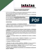 Protocolo Segun Decreto 530