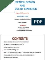 Research Designe and Basics of Stistics Manish Jain