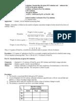 Practical Chemistry Voumetric Estimation