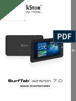 Manual Instrucciones de La Tablet TrekStor SurfTab Wintron 7.0-Instrucciones
