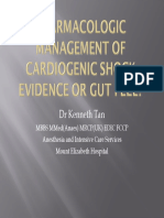 (Kenneth Tan) Pharmacologic Management for Cardiogenic Shock – EBM or Gut Feel