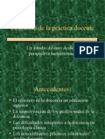 Diapositivas sobre la práctica docente