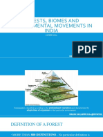 Forests, Biomes and Environmental Movements in India