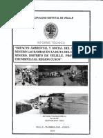 Impacto ambiental y social del proyecto minero Las Bambas en la ruta del 'corredor minero', distrito de Velille, provincia de Chumbivilcas