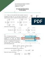 UFBA - Lista 2 - Lei de Gauss - Gabarito Parcial