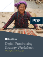 Digital Fundraising Strategy Worksheet