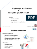 Electrically Large Applications and Integral Equation Solver