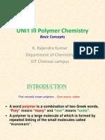 polymer basic concepts Dr. K. Rajendra kumar .ppt