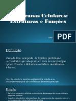 Membranas Celulares- Estrutura e Função