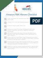 Amazon FBA Heroes Checklist