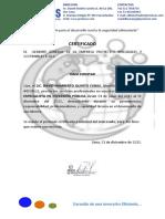 Certificado David Quinto