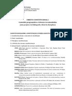 Disciplina - Direito Constitucional I - 2019 _CompartilharTurma