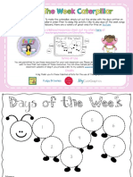 Caterpillar Days of the Week Worksheet