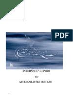 INTERNSHIP REPORT Abubakar Anees Textile Mills.doc