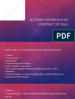 Actions for Breach