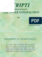 Thai restaurant business plan