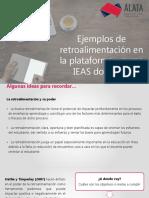 Ejemplos de Retroalimentación en La Plataforma - Curso IEAS Docentes
