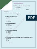 MUET Entry Test 2018