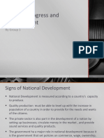 National Progress and Develoment