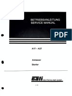 Gali Air Starter (A17, A27) Service Manual With Spare Parts Catalogue
