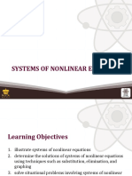 (6) Systems of Nonlinear Equations