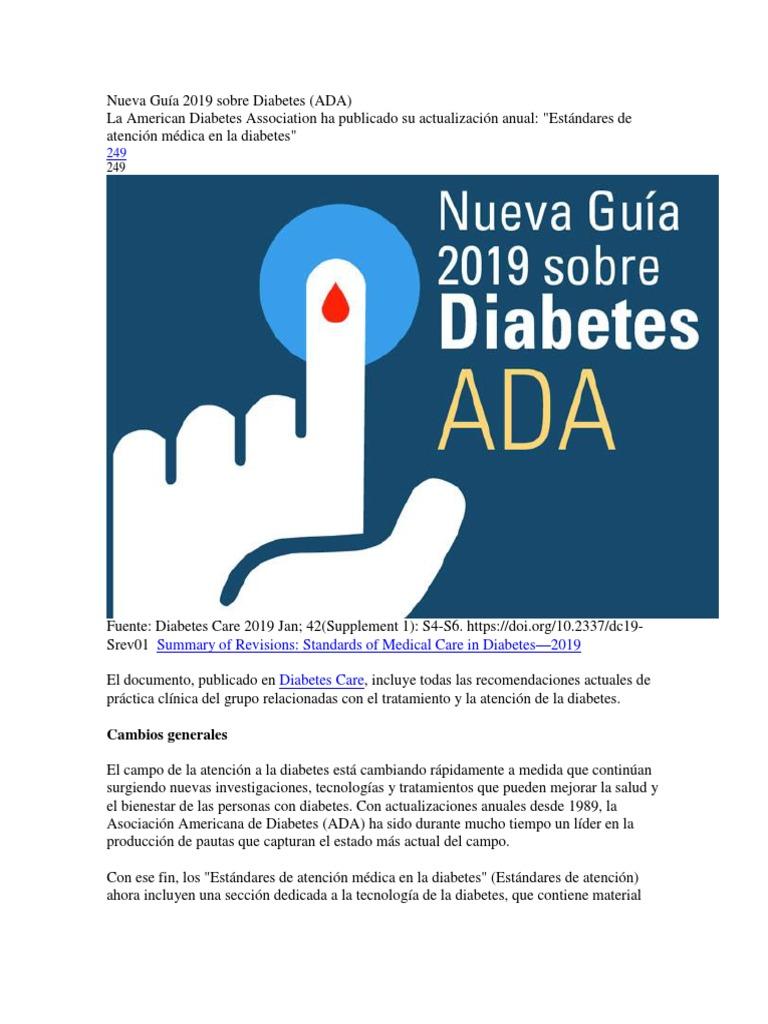 Actualizaciones de las pautas de diabetes 2020