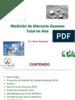 Medición de Mercurio Gaseoso Total en Aire Por Green Group