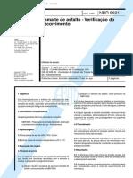 66.NBR 5691 - Esmalte Asfáltico - Escorrimento