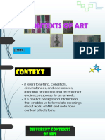 context of arts