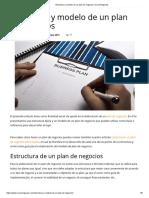 Estructura y Modelo de Un Plan de Negocios _ CreceNegocios