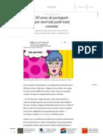 50 Erros de Português Que Você Não Pode Mais Cometer - Jornal O Globo