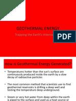 Geothermal Energy Powerpoint