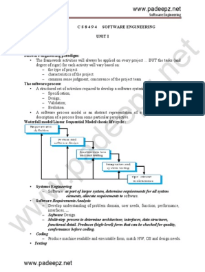 Cs8494 Notes Pdf Software Development Component Based Software Engineering